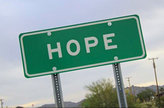 """Hope"" sign"
