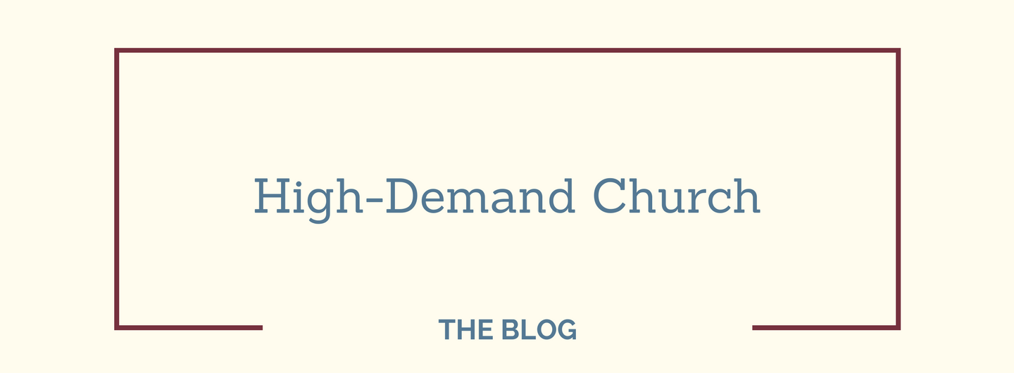 High-Demand Church – the Blog